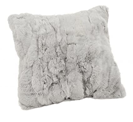 Amazon CX FUR Real Rabbit Fur Decoration Pillow Fur Pillow Cool Rabbit Fur Pillow Cover