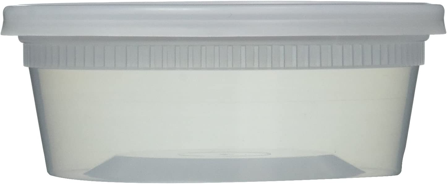Newspring Clear Deli Food Containers with Lids, Storage, 8 oz, 40 Piece