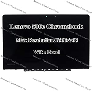 """11.6"""" LCD LED Panel 1366x768 HD Display Touch Screen Digizitizer Bezel Frame Assembly for Lenovo 500e Chromebook FRU: 5D10Q12306"""