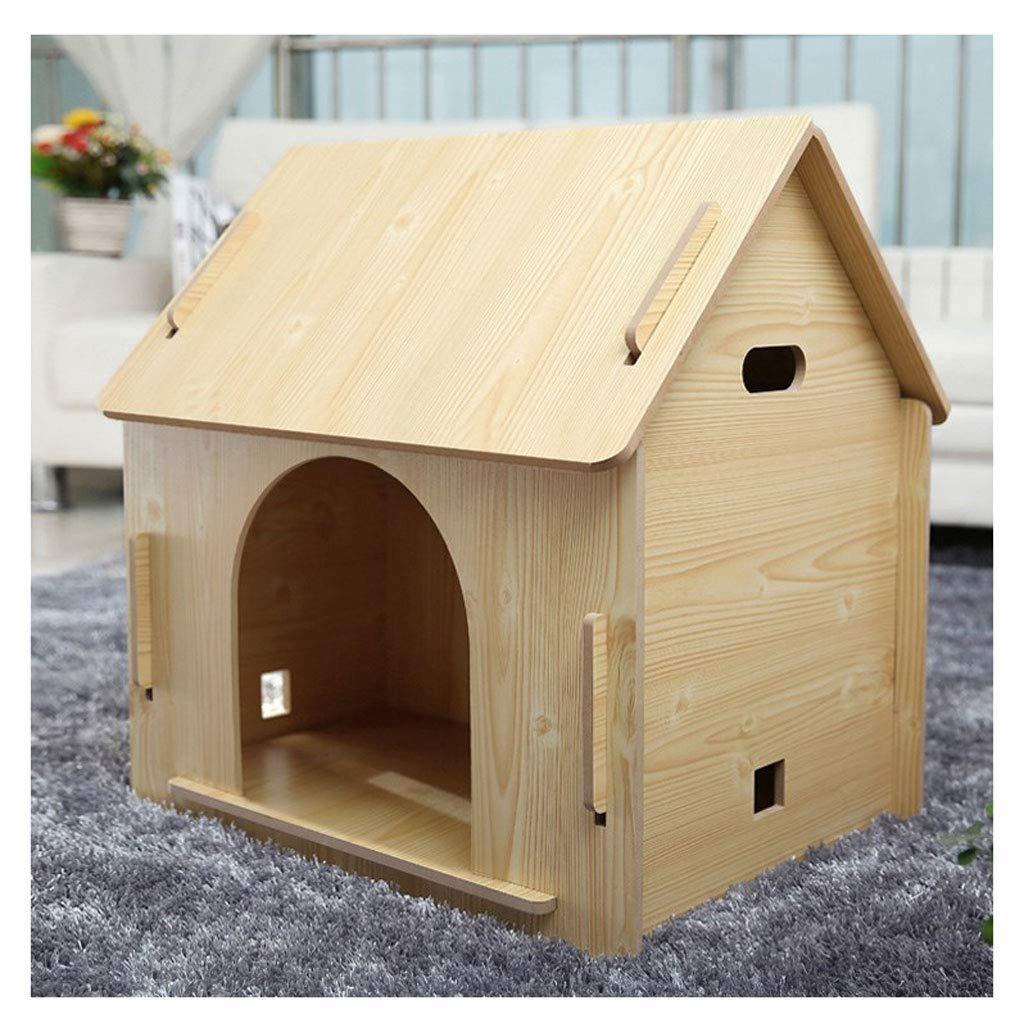 No Door Medium No Door Medium ATR Removable wooden hut, for pets has a home, wood color (multi-style and multi-size optional) (color  no door, size  medium)