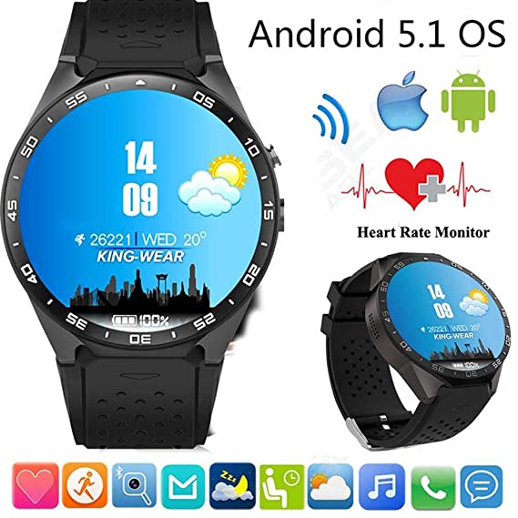 Tomlov KW88 Wifi SmartWatch con la cámara Bluetooth GPS 3G ...