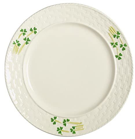 Celtic Classics Traditional Irish Basket Weave Shamrocks Dinner Plate 10-inch White  sc 1 st  Amazon.com & Amazon.com | Celtic Classics Traditional Irish Basket Weave ...
