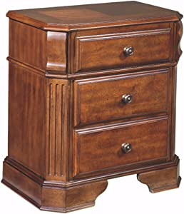 Ashley Furniture Signature Design - Braflin Nightstand - 2 Dovetail Drawers - Contemporary - Medium Brown