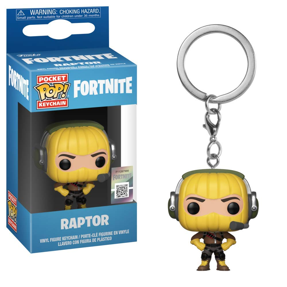 Funko 36966 Pop! Keychain: FortniteRaptor, Multicolor