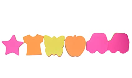 set of 6 creative funny paper sticky notes different shapes sticky