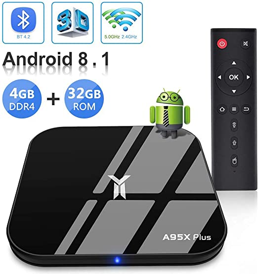 HCDMRE A95x Plus Android 8,1 Smart TV Caja 4GB RAM 32GB ROM Quad ...