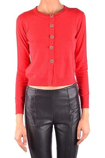 3fc8771d7fa Pinko Women's 1B13C6Y4VGR43 Red Cotton Cardigan: Amazon.co.uk: Clothing