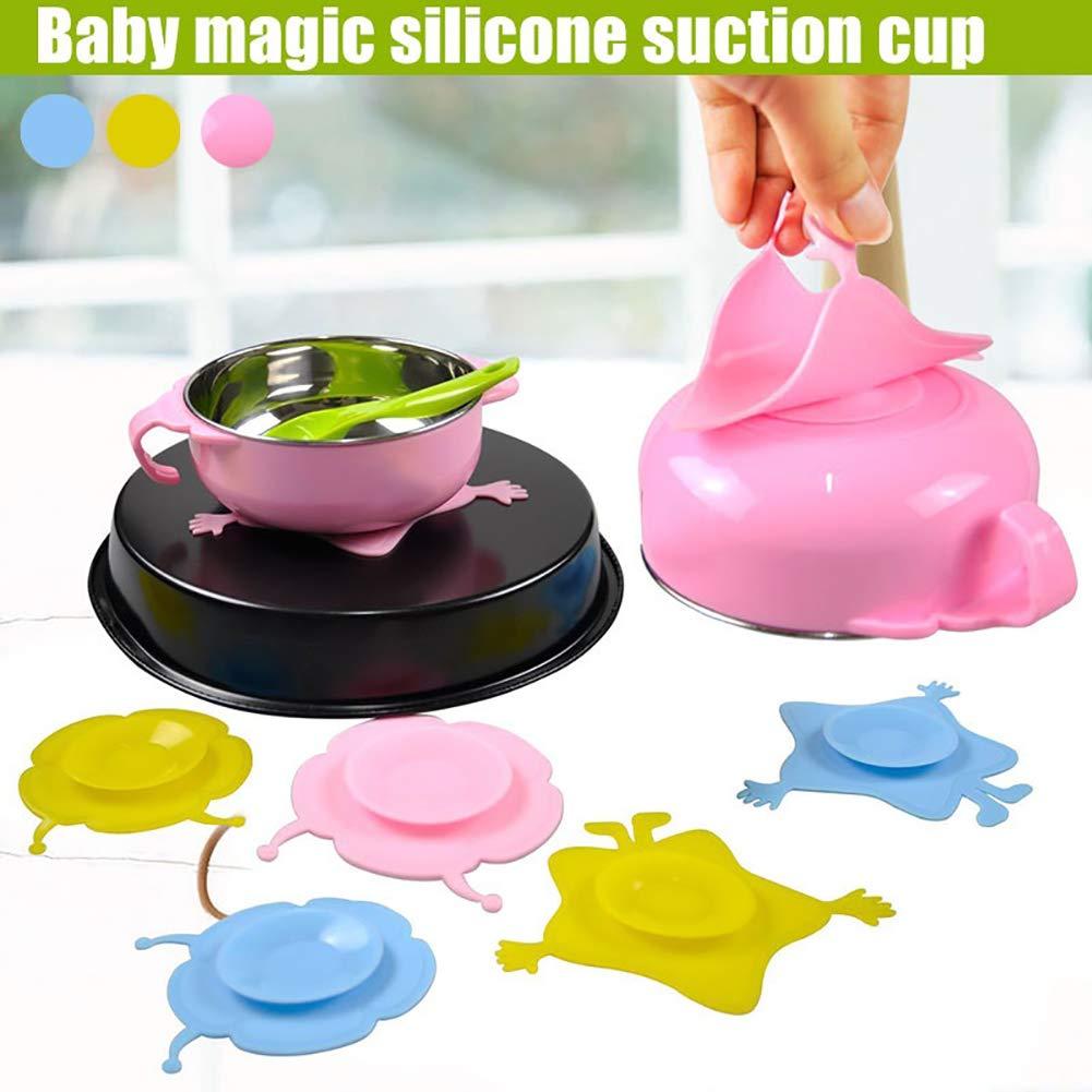 Taiguang Kids Placemat, Silicone Anti-Slip Baby Children Tableware Bowl Plate Sucker Pads Mat, 1Pc Ramdomly