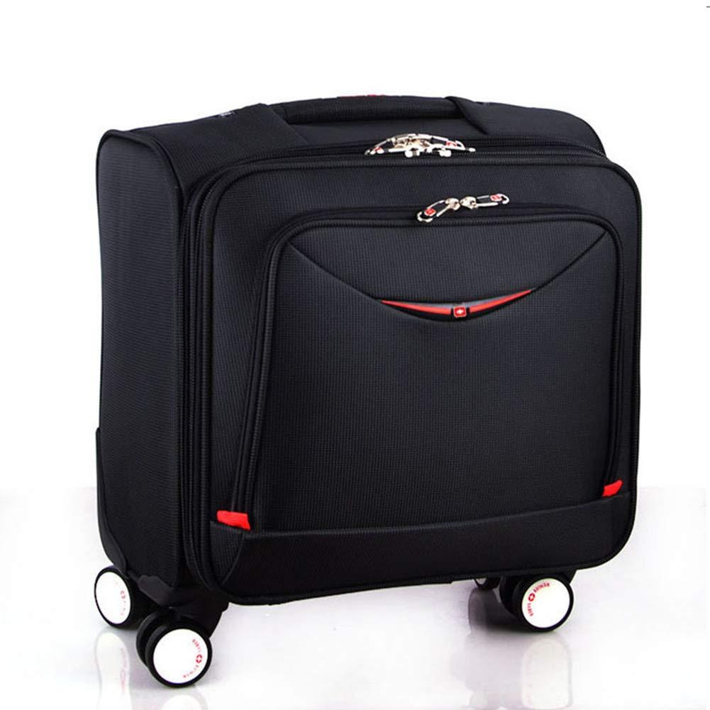 ソフトキャリーバッグ スーツケース 機内持込 小型 軽量 TSAロック搭載 出張 旅行 B07PWFQPBJ 黒 2