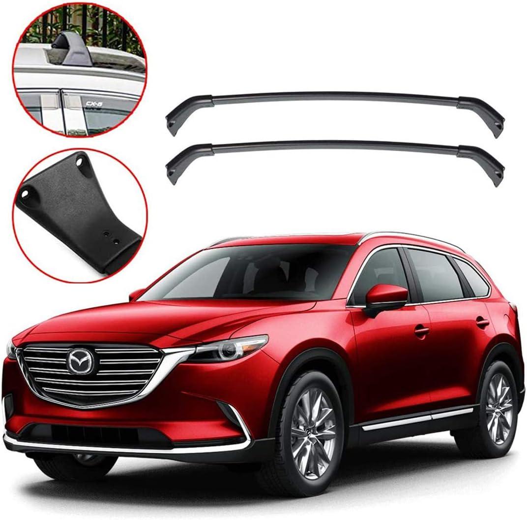 Cross Bar for Mazda CX-5 2017 2018 2019 2020(Black+Black) Tuntrol Roof Rack 4PCS Roof Rail