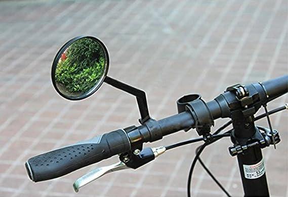 ANVAVA 2 Pcs Espejo Retorvisor Bicicleta Manillar Espejo de Bici Ajustable 360/° Espejo Ciclismo para MTB Monta/ña Electrica Mot/ó Negro