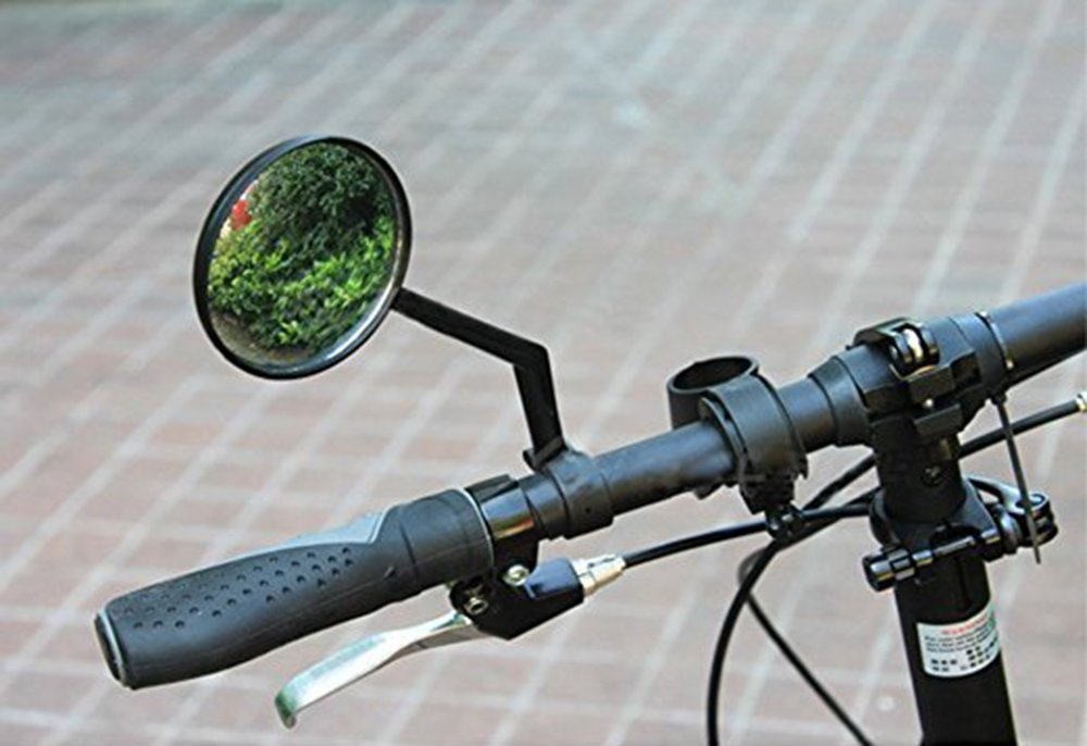 Bike Mirrors Support 360/°Rotation Diameter A Pair of Rearview Bicycle Mirrors 0.71 in - 0.79 in Suitable for Mountain Bike, Off-Road Bike and Fixed Gear Bike with The Handlebar 1.8 cm - 2 cm