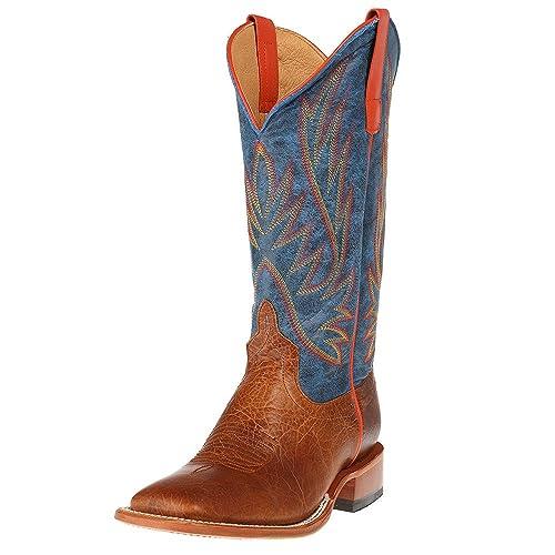 Horse Power By Anderson Bean Mens Havana Bullfrog Cowboy Boots 10 M US Chocolate Horsebutt Green Wild West