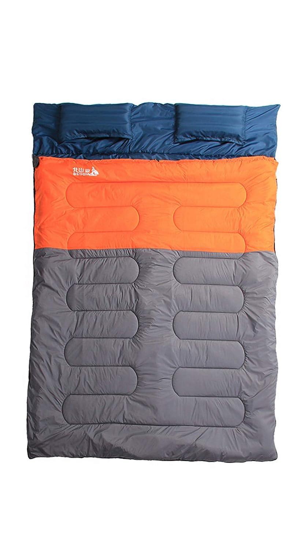 カップルスリーピングバッグ屋外キャンプ屋内ランチブレイク拡幅 & 肥厚暖かい & 防水ダブル大人綿スリーピングバッグ,Orange,3.5kg B07Q8KGJBB Orange 3.5kg