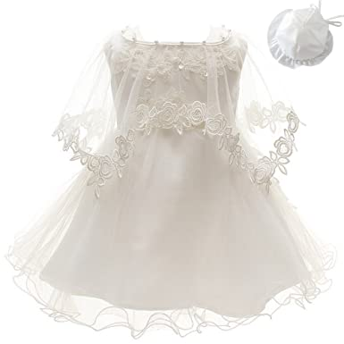 4d324c701 Amazon.com  3Pcs Set Baby Girl Dress Christening Baptism Gowns ...