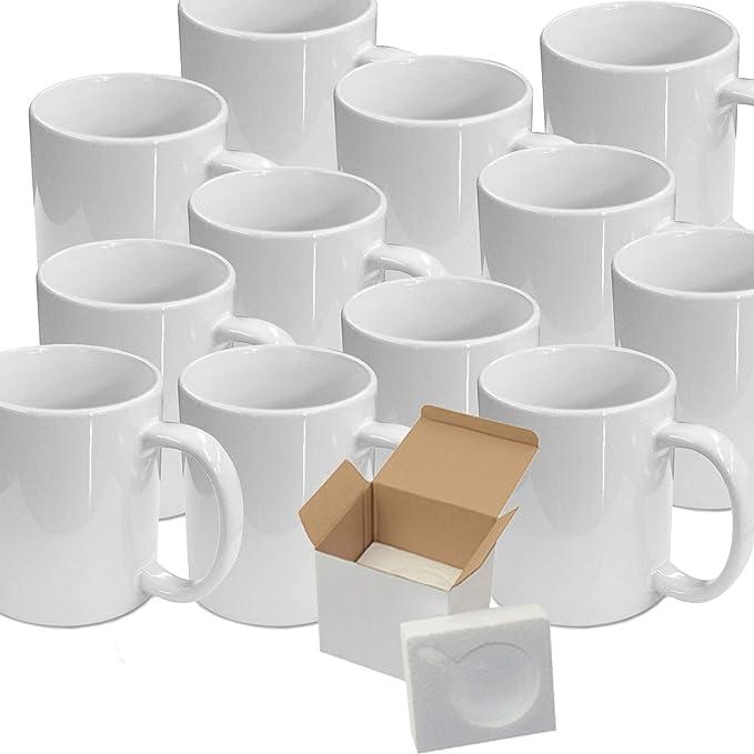 Perfect For Sublimation Box of 36 Orange Neon Fluorescent Mugs