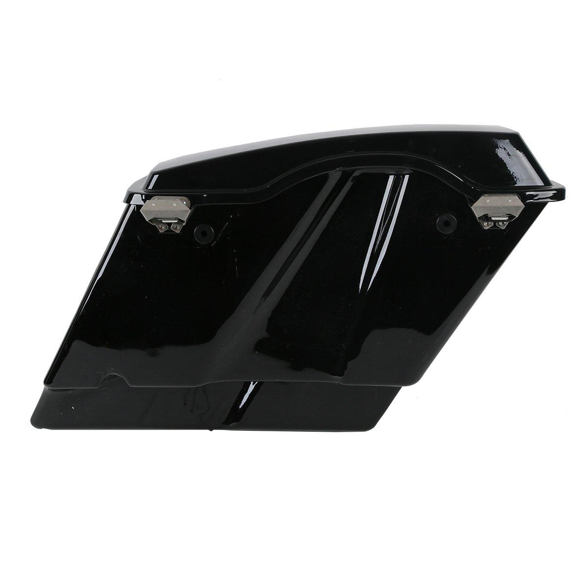 Hard Saddlebags for Electra Glide Road King Street Glide Touring 1993-2013 5 Vivid Black Stretched Extended