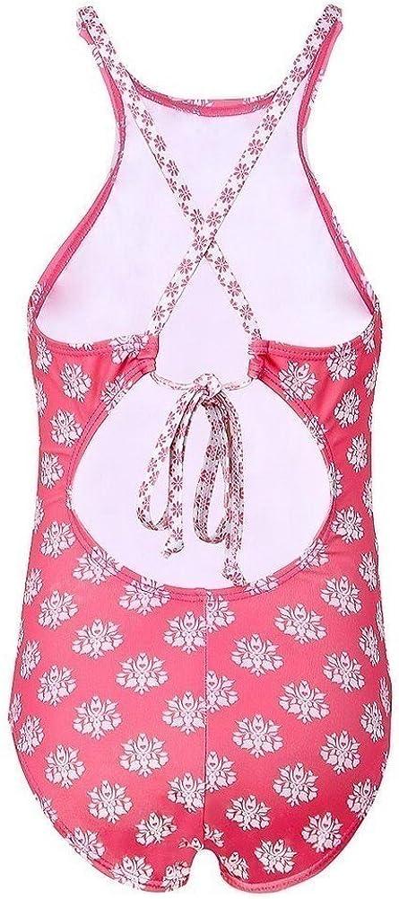 Sun Emporium Baby Girls Coral Daisy Damask Halter One Piece Swimsuit 12-18M