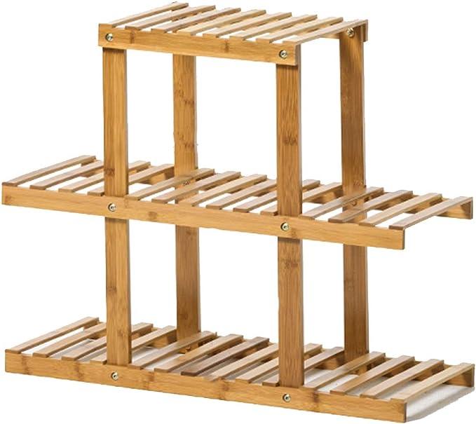Soporte de Planta de bambú de 3 Capas | Estante de exhibición de ...