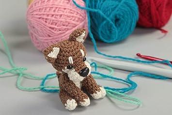 Juguete artesanal tejido a ganchillo peluche para ninos regalo original Perrito: Amazon.es: Juguetes y juegos