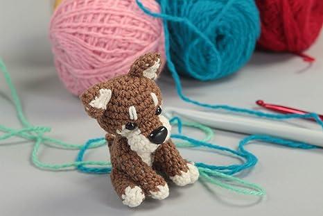 Juguete artesanal tejido a ganchillo peluche para ninos regalo original Perrito
