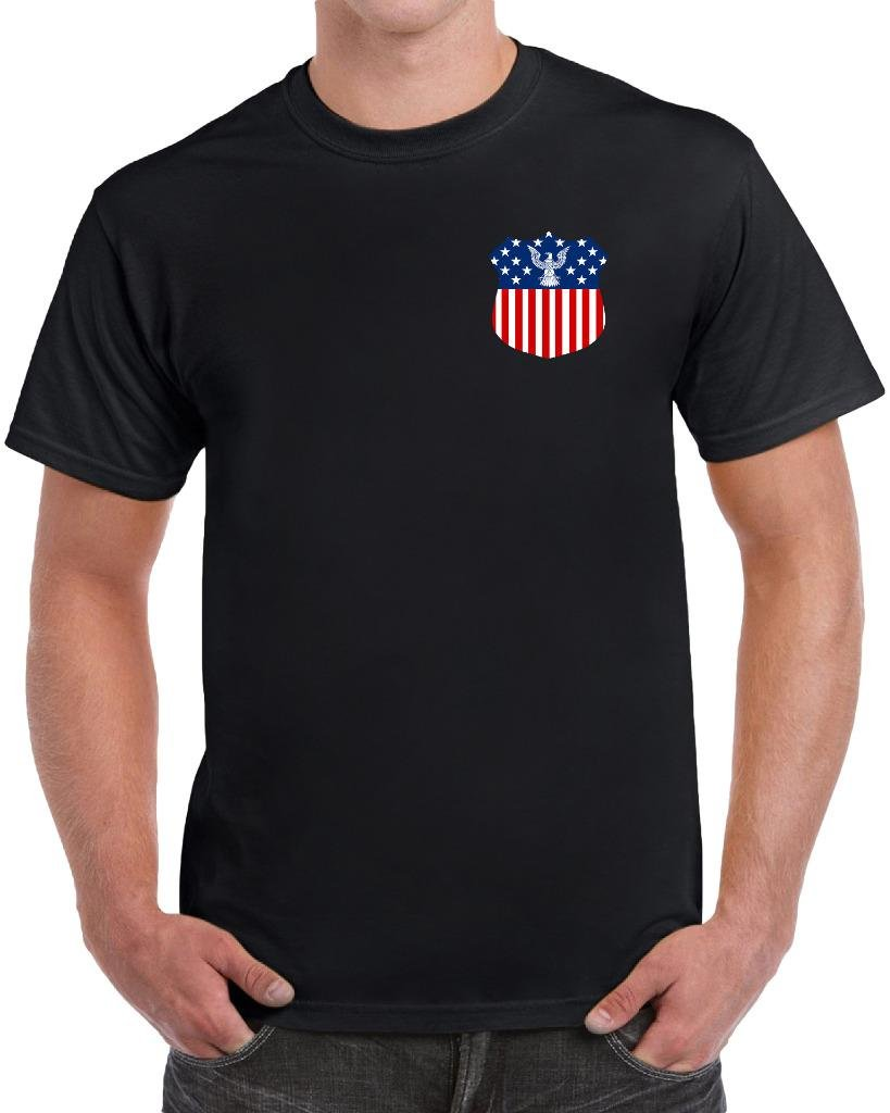 American Badge Independence Day Patriotic T Shirt 4010