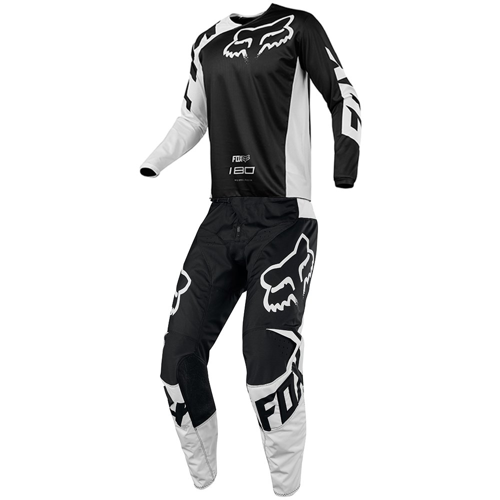 Fox Racing 180 Race Black Jersey/Pant Youth Combo - Size Y-MEDIUM/26W