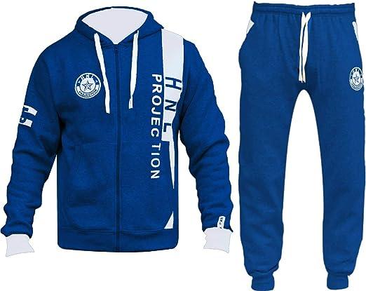 GUBA/® Tuta mimetica HNL con cappuccio e fondo tuta da jogging per ragazzi 5-13 anni