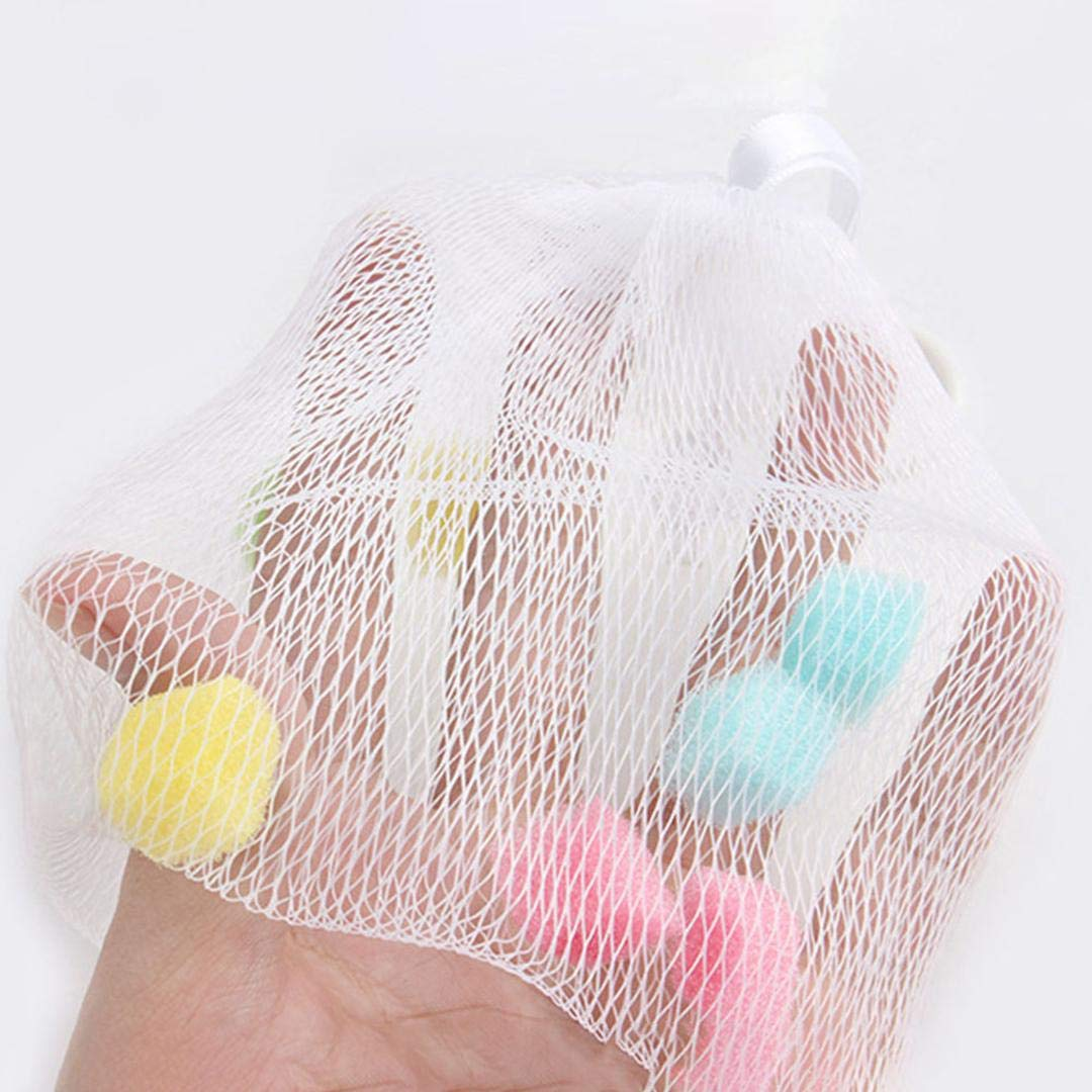 None white dyudyrujdtry Preferred 1pc Facial Body Cleansing Sponge Grain Soap Foaming Net Helper Hanging Mesh Cleanser Bath Washing 24x8cm for Home Decoration