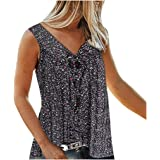 Floral Tank Tops for Women Plus Size V Neck Strappy Tops Summer Fashion Sleeveless Loose Shirts Tunic Top Blouses