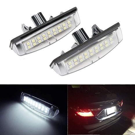 Amazon.com: 2 bombillas LED de repuesto para placa de ...