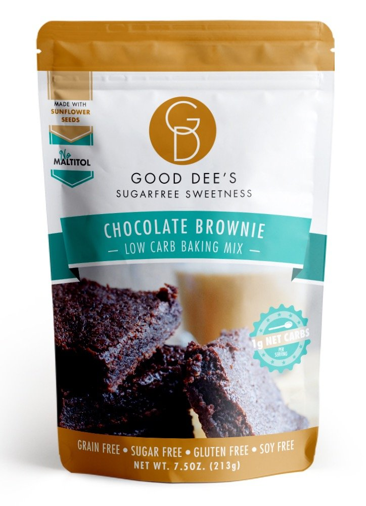 Good Dee's Low Carb, Sugar Free, Gluten Free Brownie Mix 7.5 oz. by Good Dee's Cookie Mix