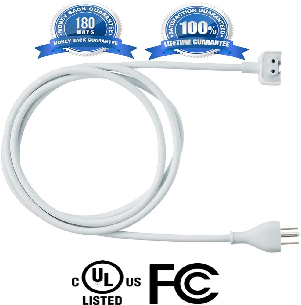 60W Ostrich Replacement Power Adapter Extension Cord Wall Cord Cable Compatible for Apple Mac iBook MacBook Pro MacBook Power Adapters 45W 85W MagSafe 1 or MagSafe 2 Models