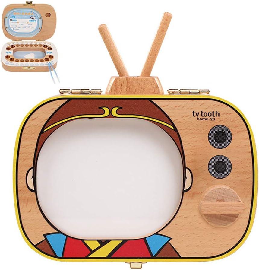 ZJJ Caja de Dientes para niños, TV Forma de Dibujos Animados ...