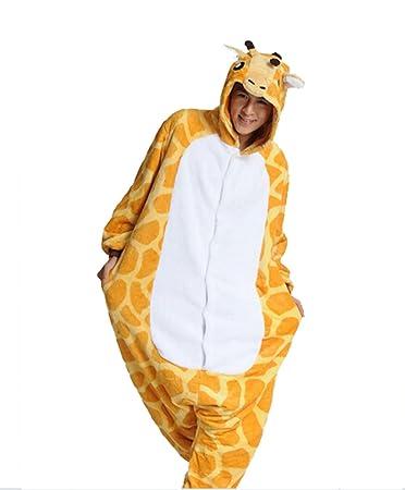 Cálido Onesie pijama adulto Unisex una pieza pijama Casual Cosplay de chándal Animal Pijama, diseño de jirafa: Amazon.es: Deportes y aire libre