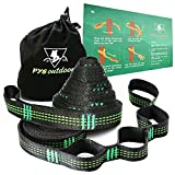 100% RISK FREE PURCHASE The only HAMMOCK STAPS that are completely covered for the life of the product, The Best Premium XL Heavy Duty Hammock Straps That Don't Stretch -- 10 FT long each x 1 IN wide (tree-friendly). -20 loops (40 combined). Rated...