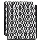 Z PLINRISE Luxury Marble Portfolio File Folder Document Resume Organizer,Padfolio File Holder Folders Letter Size,Standard 3 Ring Binder with Clipboard (Black and White Diamond)