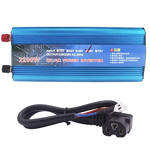 XBNBQ 1200W / 2200W Peak Car Power Inverter DC 48V / 60V a AC 220V ...