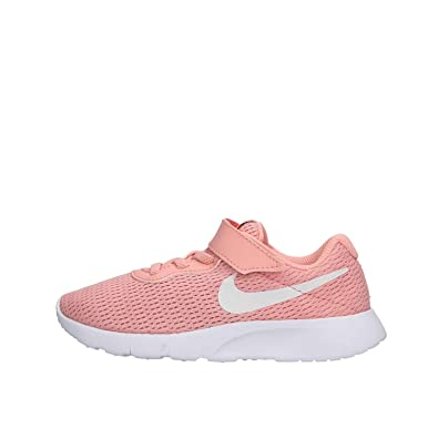 429f2f4a44 Nike Boys Tanjun (PSV) Running Shoes, Multicolour (Bleached Coral/White-