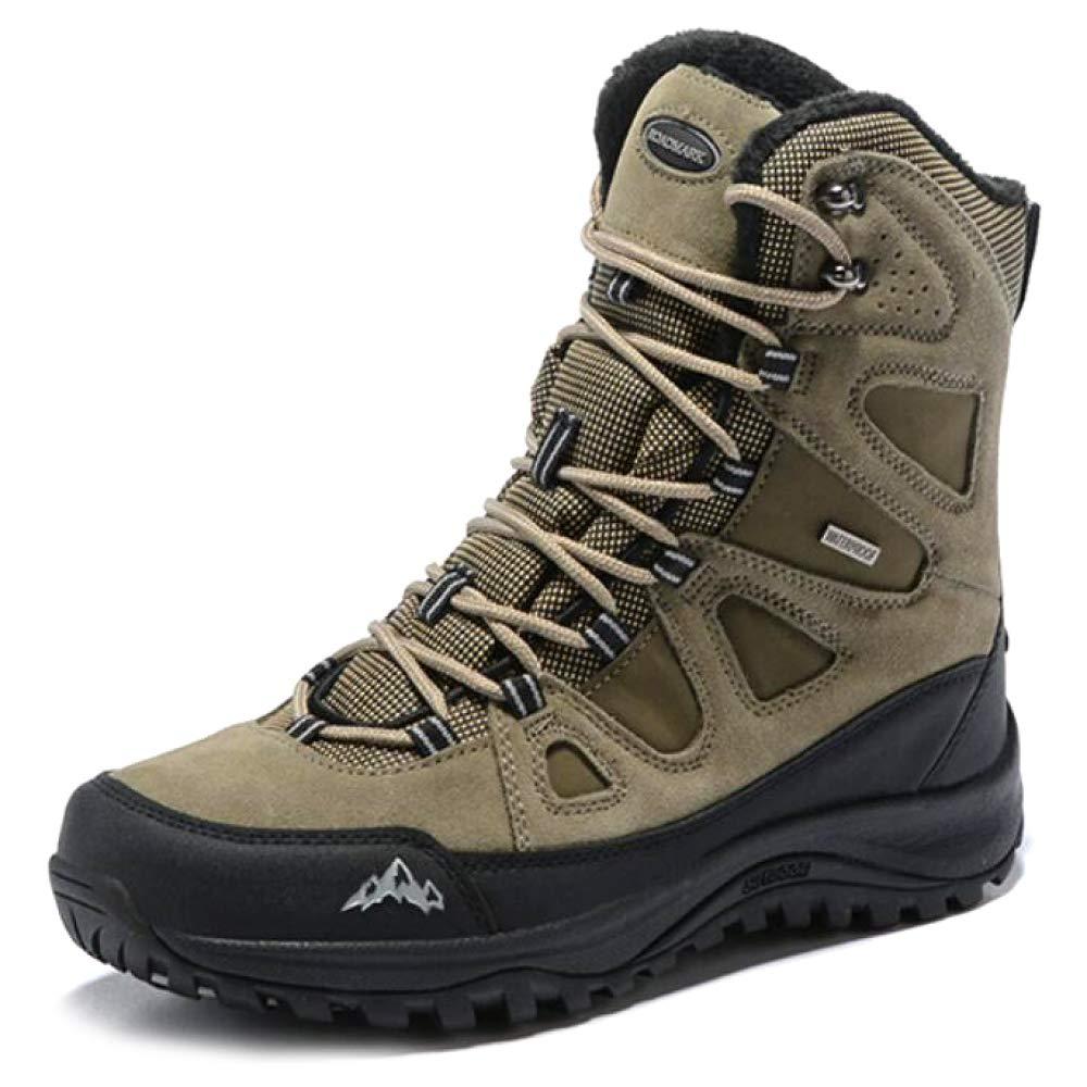 LIJUN Winter Schneestiefel Warm Gemütlich Pelz Gefüttert Tactical Stiefel Rutschfeste Arbeit Hi-Top Wandern Schuhe Größe: 38-45