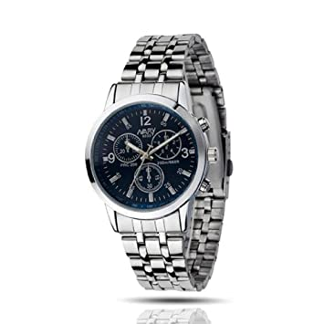 Amazon.com: IEason - Reloj de pulsera para mujer, de acero ...