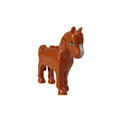 LEGO Friends Orange/Brown Horse w/ White Blaze Pattern (Complete): Toys & Games
