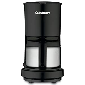 4 Cup Coffeemaker with Stainless Steel Carafe Color: Black