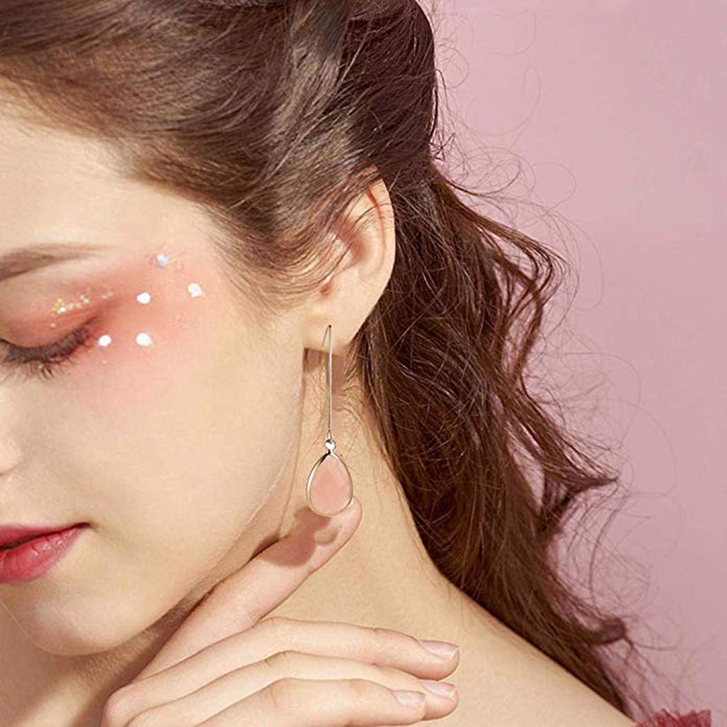 Long Drop Earrings for Women Cnebo Clear Crystal Dangle Earrings Fashion Teardrop Dangle Earring Ladies Casual Daily Earring Friendship Jewelry Gift
