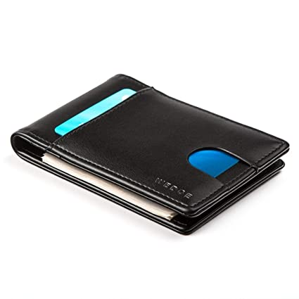 aace943a213b WEDGE - Ultra Slim Genuine Leather Wallet with Money Clip/RFID ...