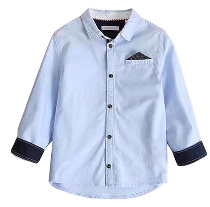 Ropa para Niños Chicos Camisa Grande Virgen Oxford De Manga ...