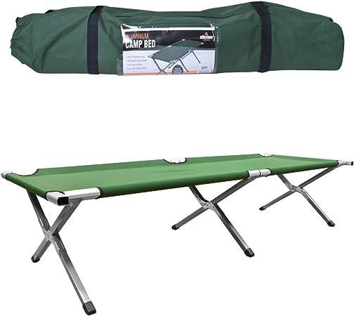 Milestone Camping 20260 Cama de Acampada Plegable, Verde, H42 x W64 x L189cm