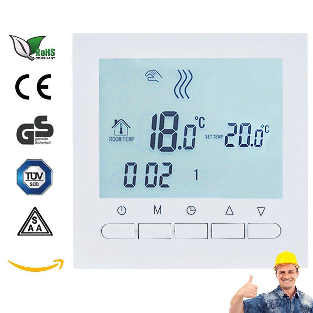 AVStar Termostato inteligente programable para calefacción de calderas de gas Pantalla LCD