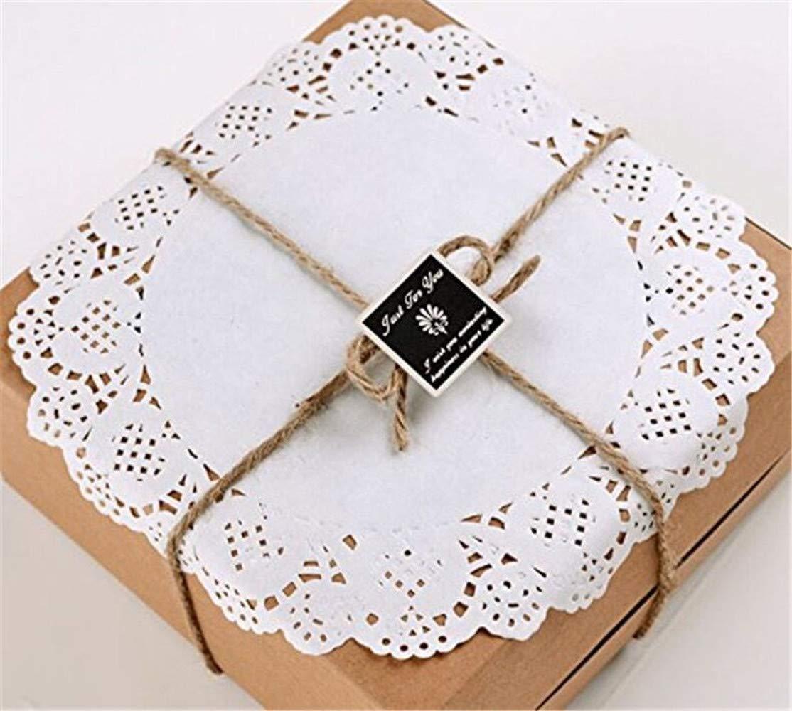 3,5 Zoll Rund Papierdeckchen,100 St/ücke Tortenspitze Papier Runde Spitze Papiermatten Tischsets,Kuchen Verpackung Pads f/ür Hochzeiten,Geburtstagsfeier,Geschirrdekoration 8.9 cm