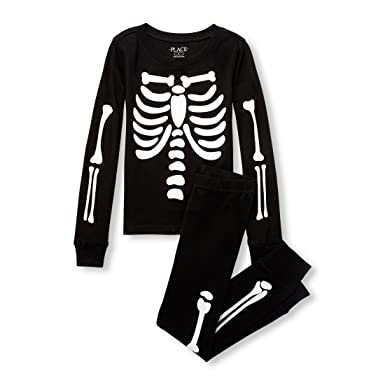 44623c20dade The Children s Place Boys  Big Skeleton Pajama Set  Amazon.in ...